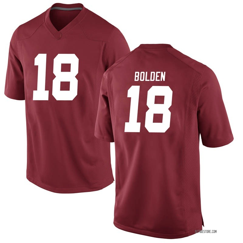 Game Men's Slade Bolden Alabama Crimson Tide Crimson Football College Jersey