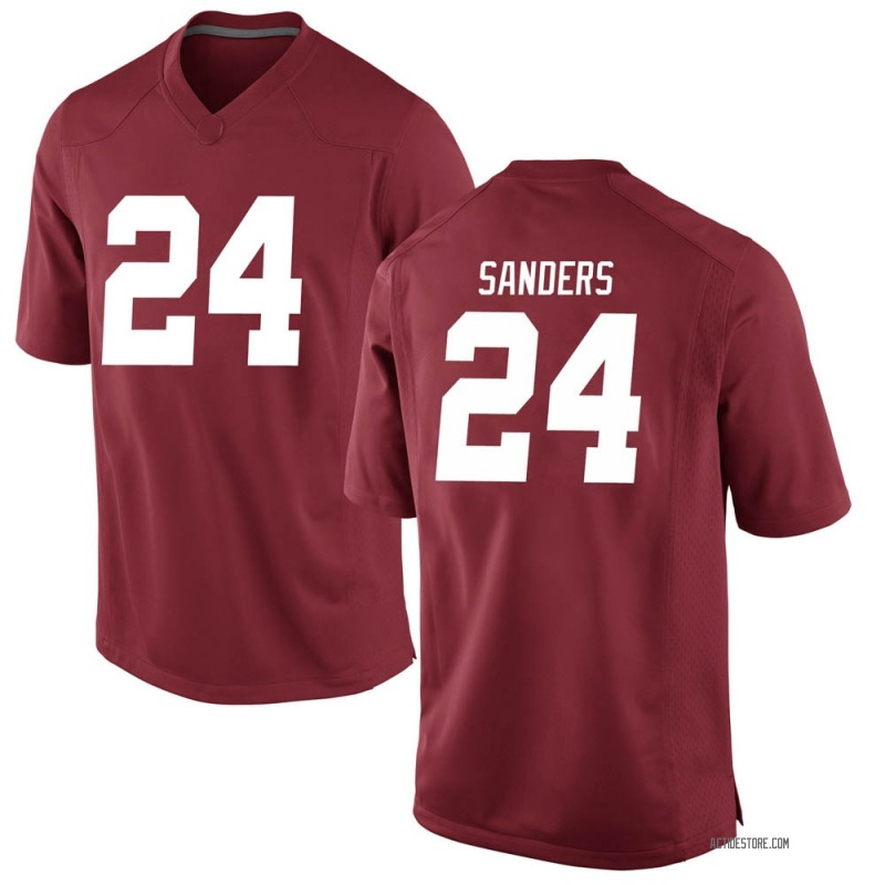 Game Men's Trey Sanders Alabama Crimson Tide Crimson Football College Jersey