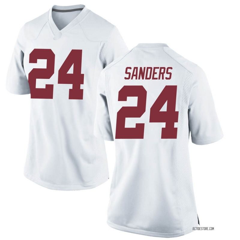Game Women's Trey Sanders Alabama Crimson Tide White Football College Jersey