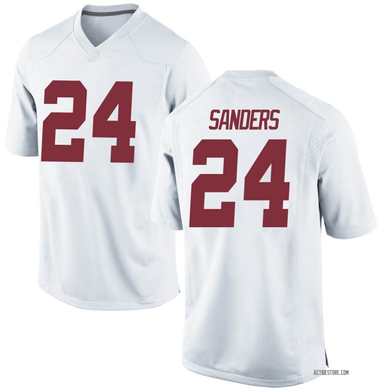 Game Youth Trey Sanders Alabama Crimson Tide White Football College Jersey