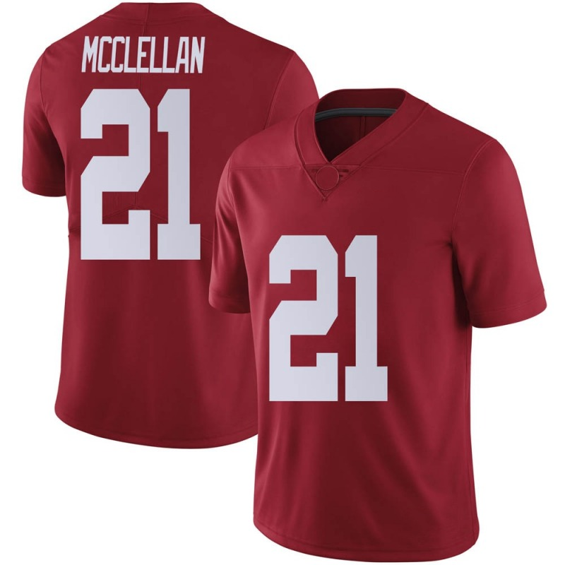 Limited Men's Jase McClellan Alabama Crimson Tide Crimson Football College Jersey