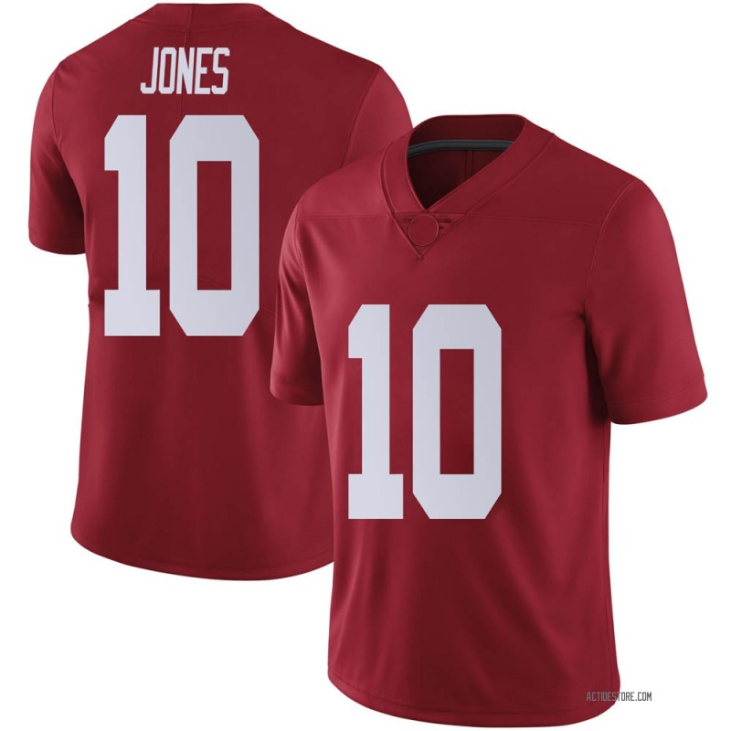 Limited Men's Mac Jones Alabama Crimson Tide Crimson Football College Jersey