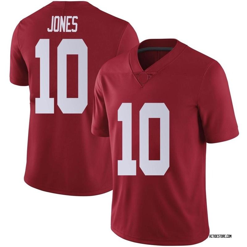 Limited Men's Mac Jones Alabama Crimson Tide Crimson Football College Jersey