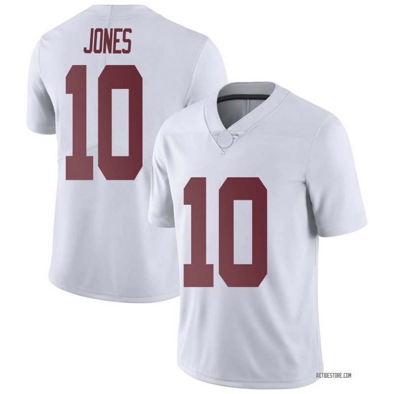 Limited Men's Mac Jones Alabama Crimson Tide White Football College Jersey