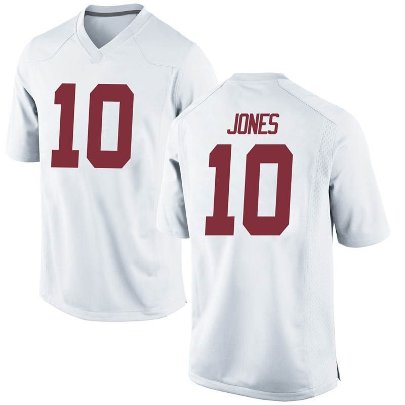 Replica Men's Mac Jones Alabama Crimson Tide White Football College Jersey
