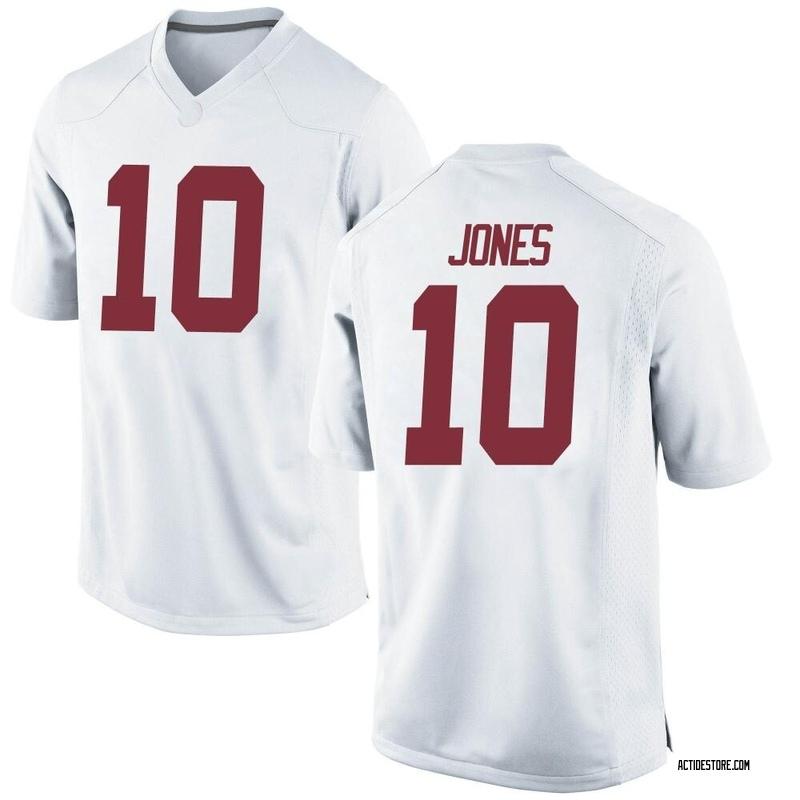 Replica Men's Mac Jones Alabama Crimson Tide White Football College Jersey